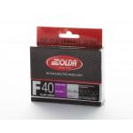 Solda F40 CARBON Extra Fluor Glide Wax Violet -4...-14°C, 60g