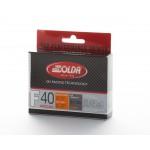 Solda F40 SPECIAL Extra Fluor Glide Wax Orange +2...-9°C, 60g